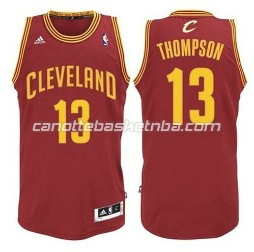 canotta tristan thompson #13 cleveland cavaliers rev30 rosso