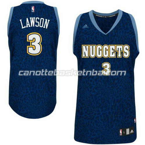 canotta basket denver nuggets con ty lawson #3 leopard