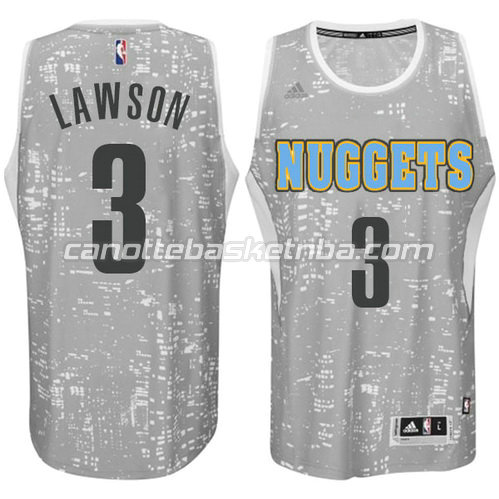 canotte nba ty lawson #3 denver nuggets lights grigio