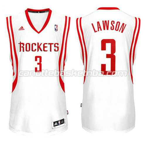 canotte ty lawson #3 houston rockets 2014-2015 bianca