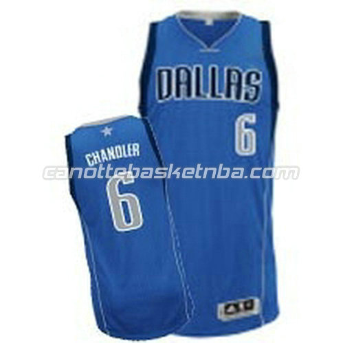 canotta tyson chandler #6 dallas mavericks revolution 30 blu