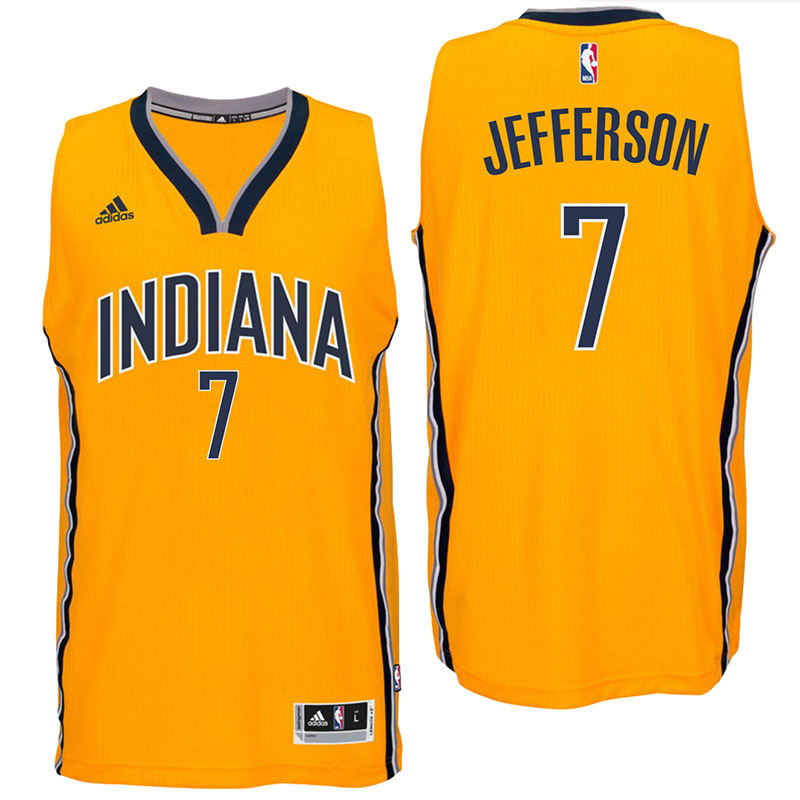 canotte Al Jefferson 7 indiana pacers 2017 giallo