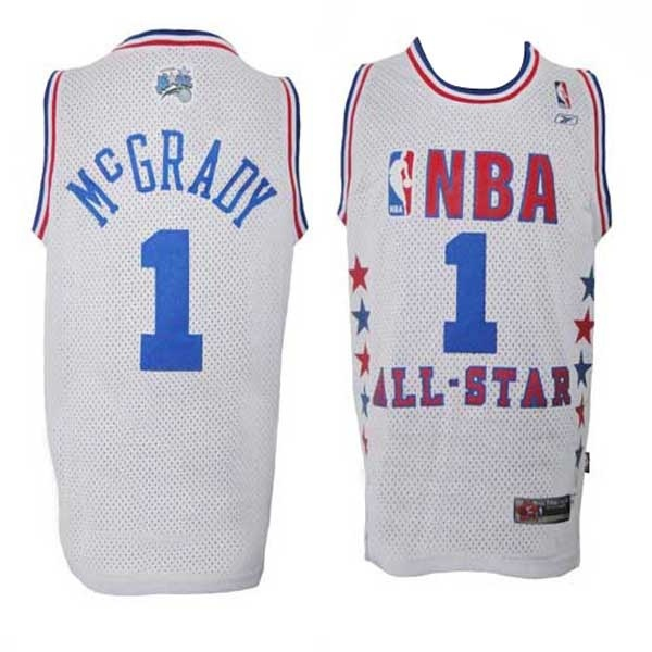 canotte Tracy McGrady 1 Nba All Star 2003 bianca
