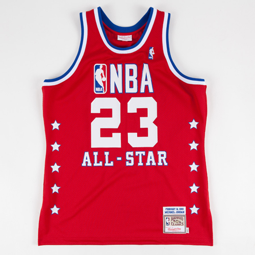 canotte basket Michael Jordan Nba All Star 1989 rosso