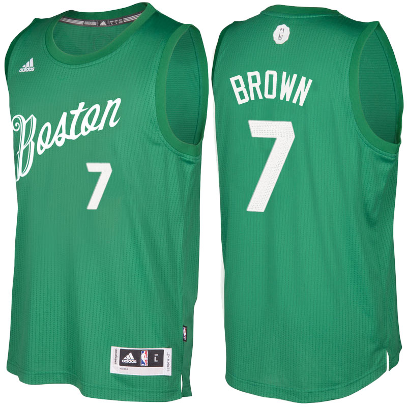 canotte basket NBA Boston Celtics 2016 Jaylen Brown 7 Verde