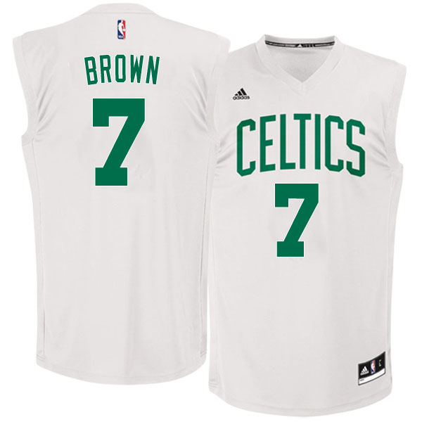 canotte basket NBA Boston Celtics 2016 Jaylen Brown 7 bianco