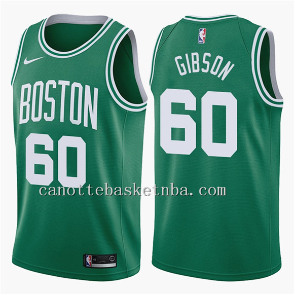 canotte basket NBA Boston Celtics 2018 gibson 60 verde