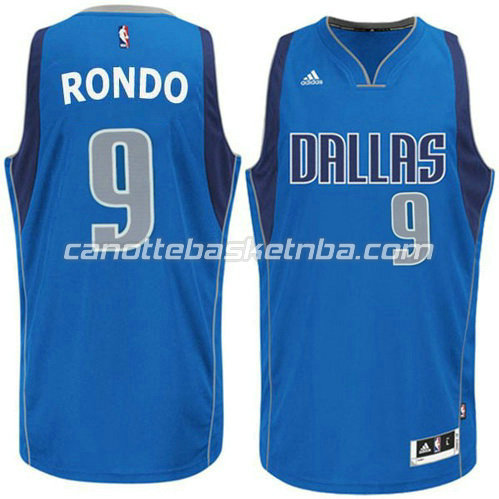 canotte basket rajon rondo #9 dallas mavericks blu