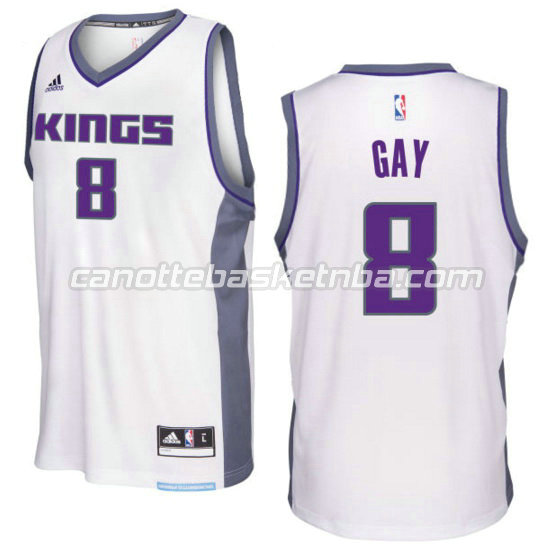 canotta rudy gay 8 sacramento kings 2016-2017 bianca