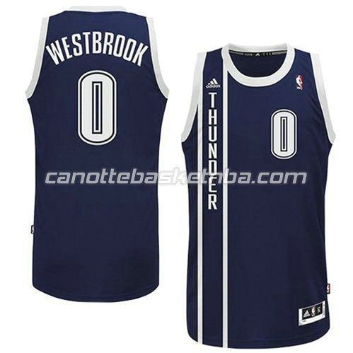 canotta russell westbrook #0 oklahoma city thunder alternato blu