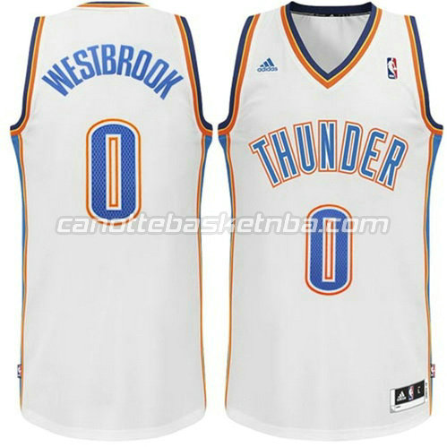 maglia russell westbrook #0 oklahoma city thunder revolution 30 bianca