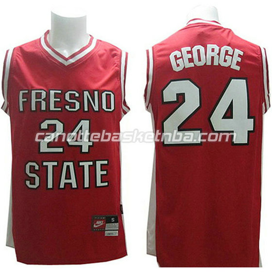 canotte ncaa fresno state bulldogs paul george #24 rosso