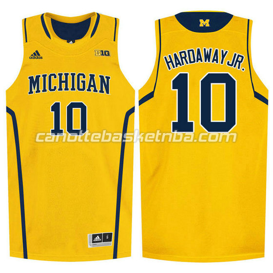 canotte ncaa michigan wolverines tim hardaway #10 giallo