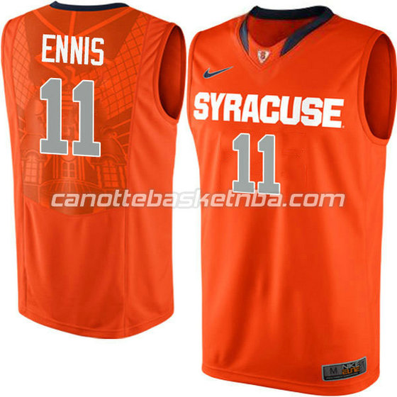 canotte ncaa syracuse orange tyler ennis #11 arancia