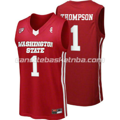 canotte ncaa washington state cougars klay thompson #1 rosso
