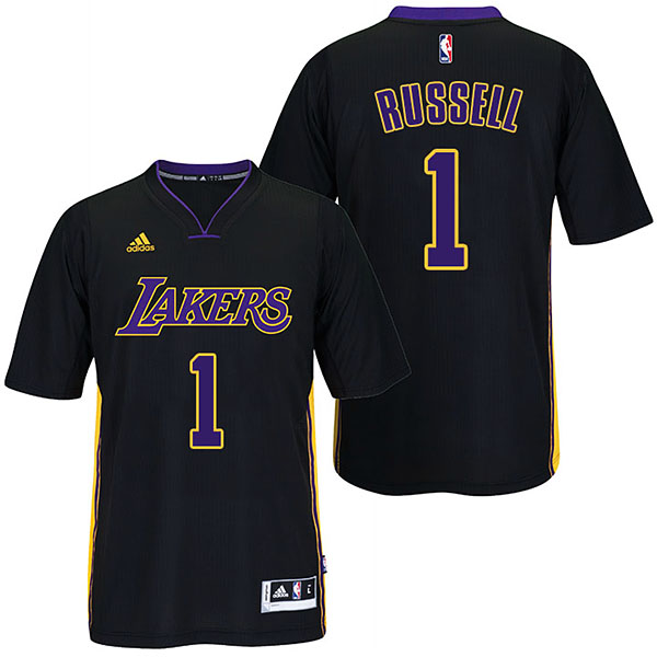 canotte d'angelo Russell Número 1 los angeles lakers 2017 nero