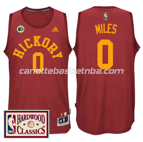 canotta C.J.Miles 0 indiana pacers 2016-2017 50th rosso