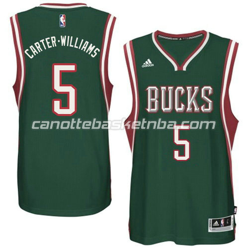 canotta carter williams #5 milwaukee bucks 2014-2015 verde