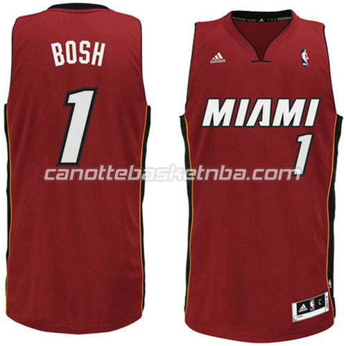 canotta chris bosh #1 miami heat revolution 30 rosso