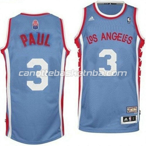 canotta chris paul #3 los angeles clippers classico blu