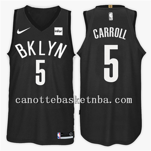 maglia NBA brooklyn nets 2018 demarre carroll 5 nero