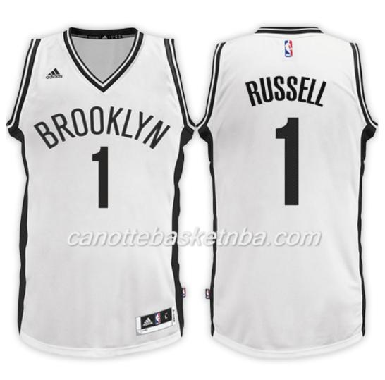 maglia NBA d'angelo russell 1 2017-18 brooklyn nets bianca