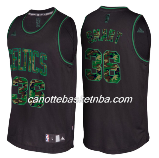 maglia NBA marcus smart 36 boston celtics moda camo nero
