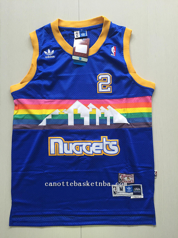 maglie nba alex english #2 denver nuggets soul blu
