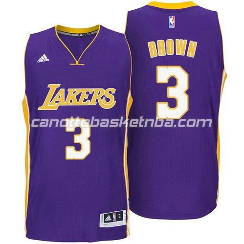 maglia anthony brown #3 los angeles lakers 2014-2015 porpora