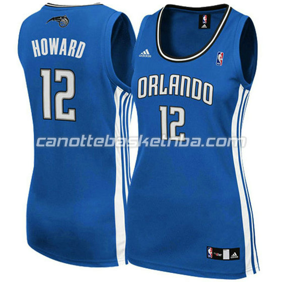 maglia basket donna orlando magic dwight howard #12 blu