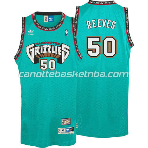 maglia bryant reeves #50 vancouver grizzlies blu