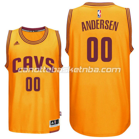 maglia cleveland cavaliers 2016 chris andersen 0 giallo