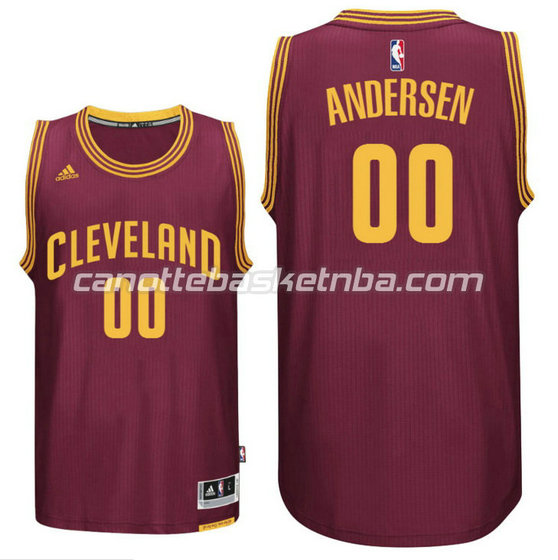 maglia cleveland cavaliers 2016 chris andersen 0 rosso
