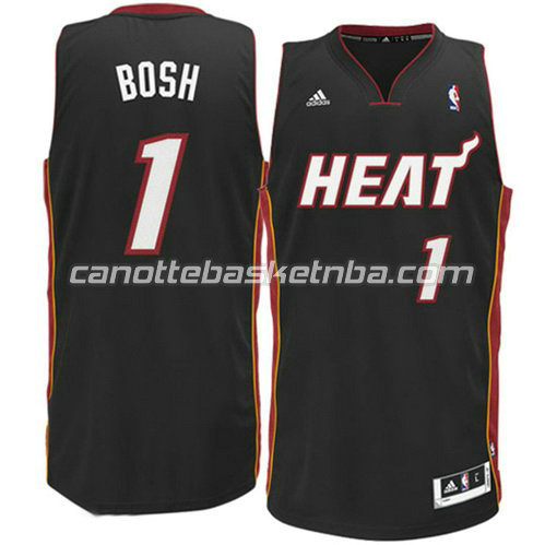 maglia chris bosh #1 miami heat revolution 30 nero