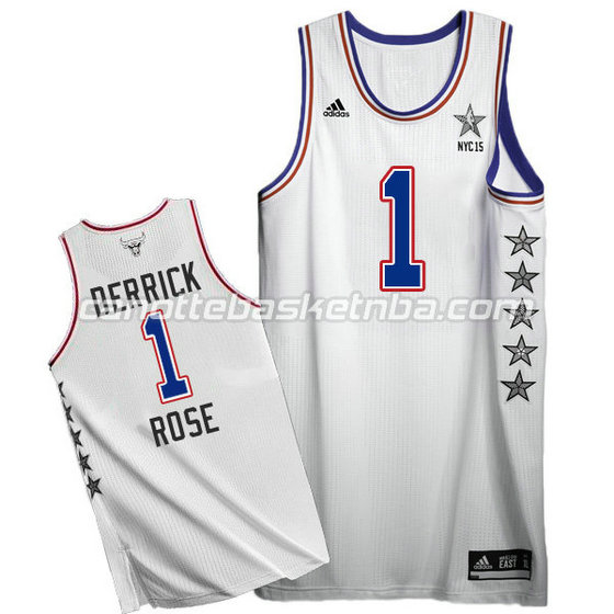 canotte basket derrick rose #1 nba all star 2015 bianca