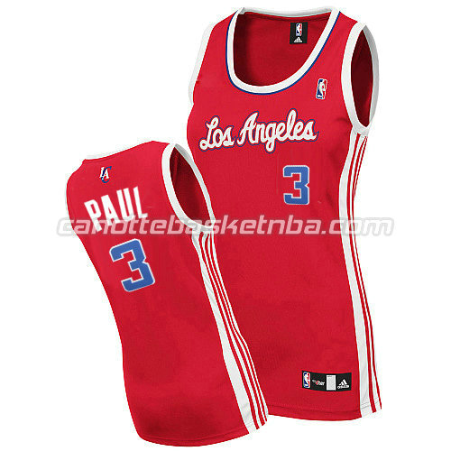 maglie nba donne los angeles clippers chris paul #3 rosso