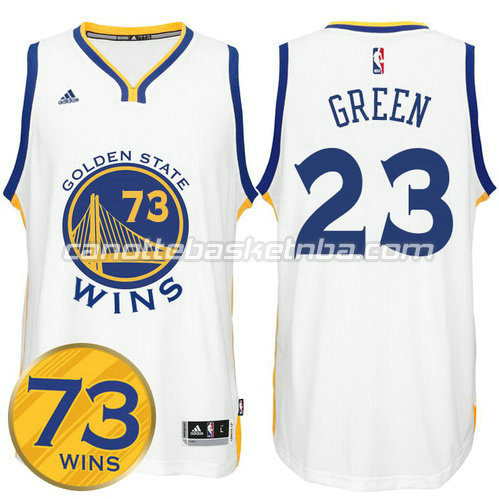 maglia draymond green #23 golden state warriors 73 wins 2016 bianca