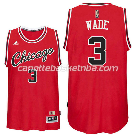 maglia dwyane wade 3 chicago bulls draft classico rosso