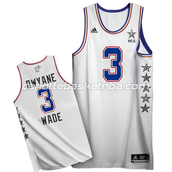 canotte basket dwyane wade #3 nba all star 2015 bianca
