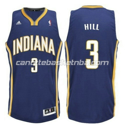 maglia george hill #3 indiana pacers revolution 30 blu