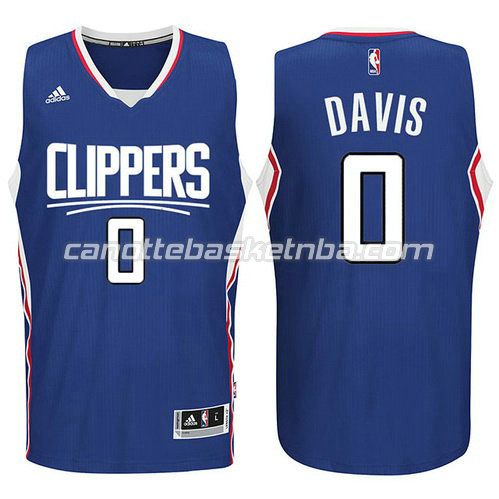 canotta los angeles clippers 2015-2016 con glen davis #0 blu