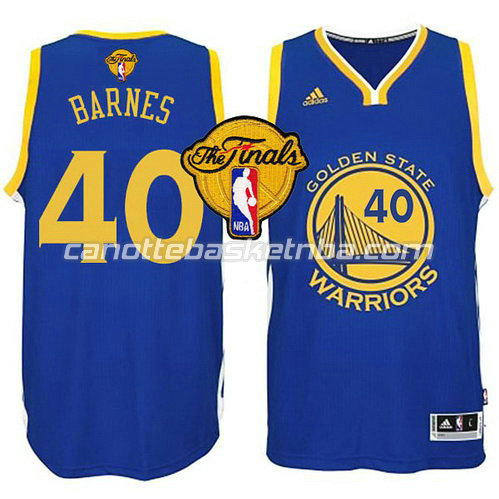 maglia harrison barnes #40 golden state warriors finale 2015 blu