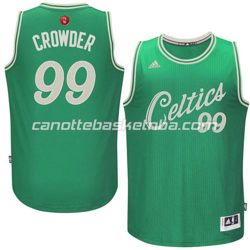 maglia jae crowder #99 boston celtics natale 2015 verde
