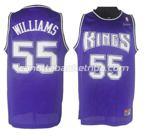 maglia jason williams #55 sacramento kings porpora