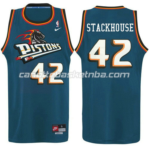 maglia jerry stackhouse #42 detroit pistons alternato