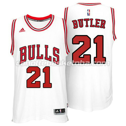 maglia jimmy butler #21 chicago bulls 2014-2015 bianca