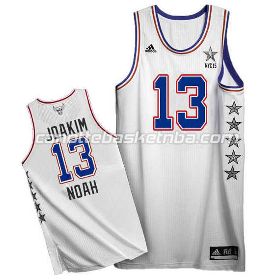 canotte basket joakim noah #13 nba all star 2015 bianca