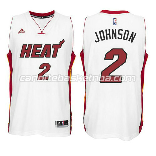 maglia joe johnson #2 miami heat 2014-2015 bianca