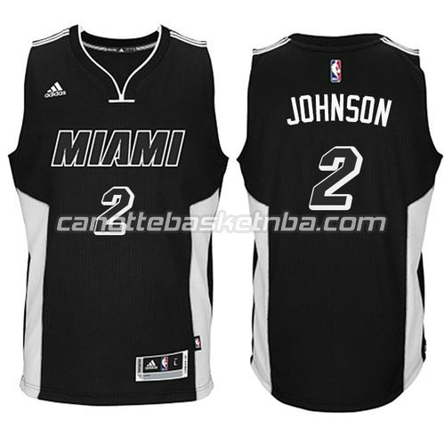 maglia miami heat 2014-2015 con joe johnson #2 nero