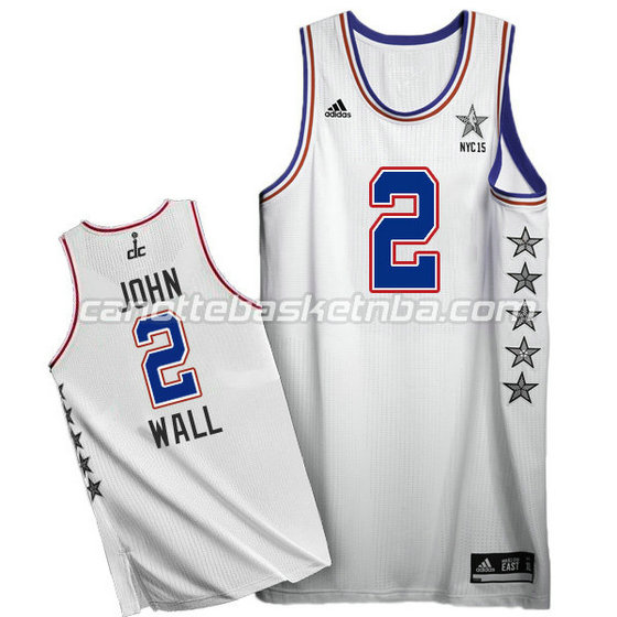 canotte basket john wall #2 nba all star 2015 bianca